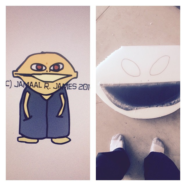 Lemron The Con Mascot Costume created by Jamaal R. James for James Creative Arts And Entertainment Company.