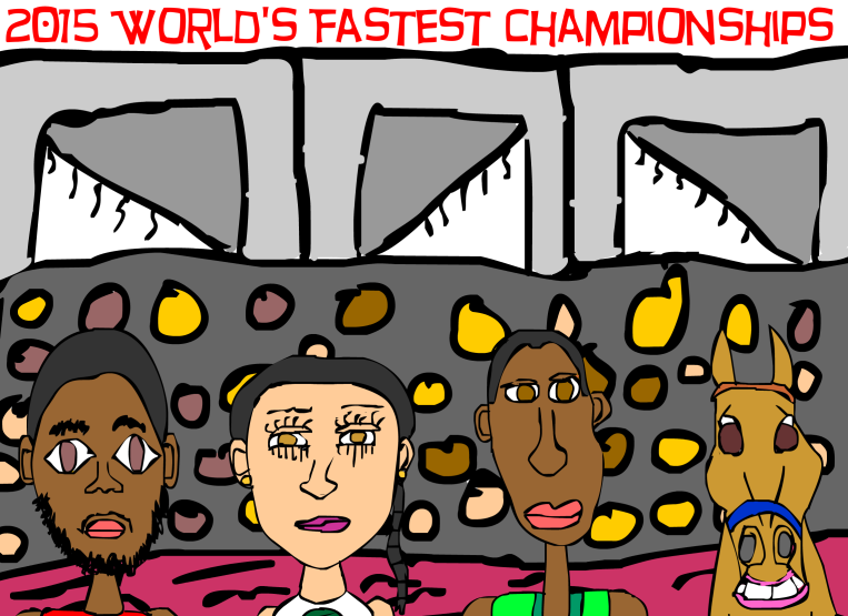 2015 World Fastest Championships created by Cartoonist Jamaal R. James for James Creative Arts And Entertainment Company.