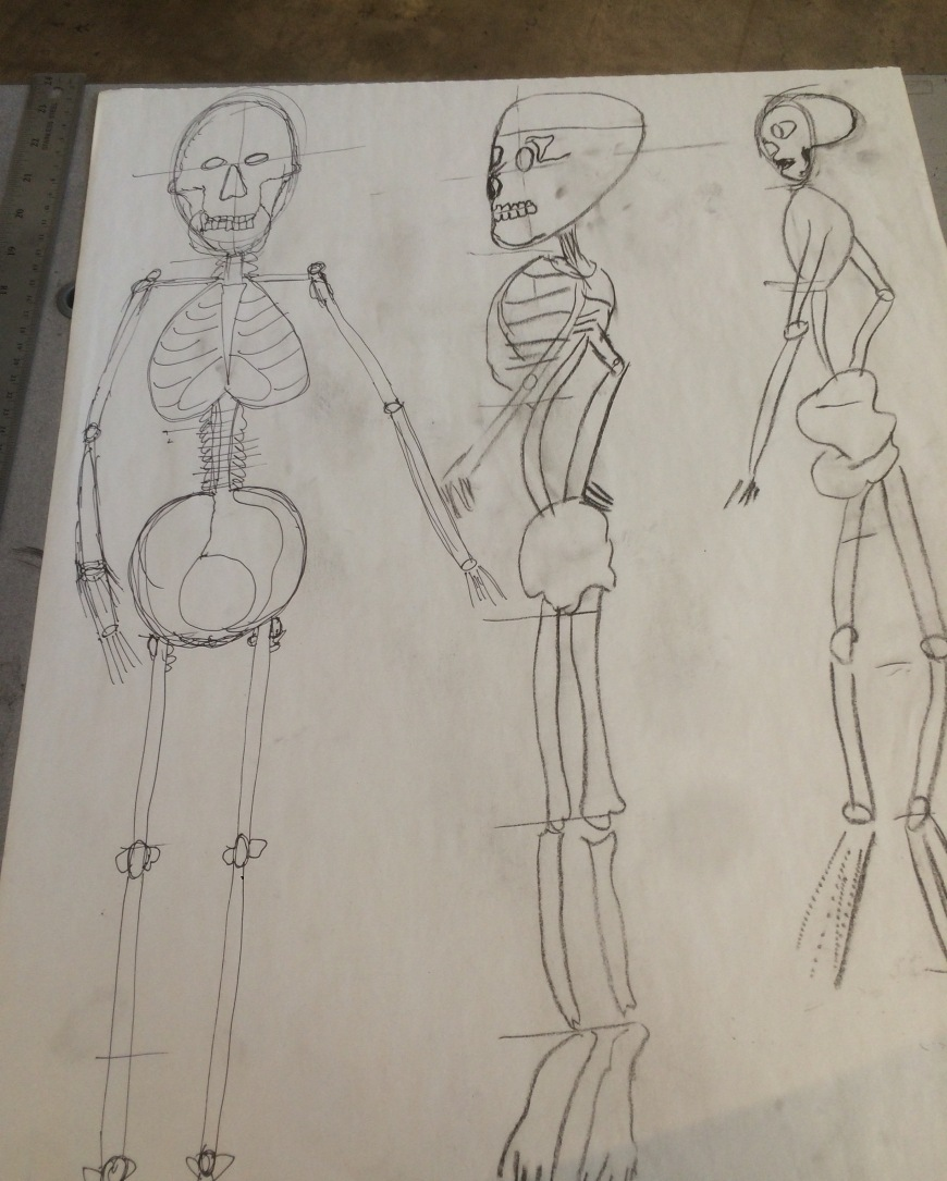 Sketch Skeleton concept art by Cartoonist Jamaal R. James for James Creative Arts And Entertainment Company.