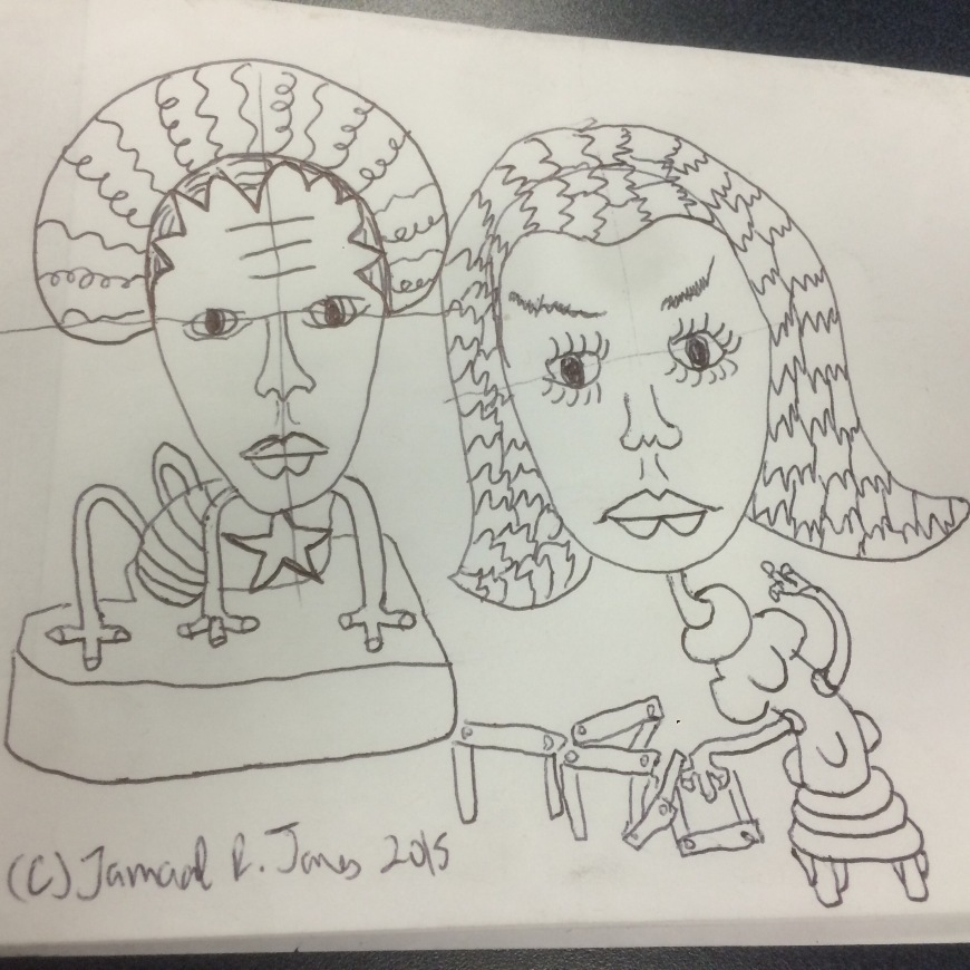 Art Doodle by Cartoonist Jamaal R. James for James Creative Arts And Entertainment Company.