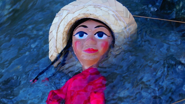 After Valerie jumped into the cold frigid waters she realized that she had nothing to fear and that the cold water was actually good for her and she was one step closer to the snow...puppet theater by Visionary Film Director Jamaal R. James.