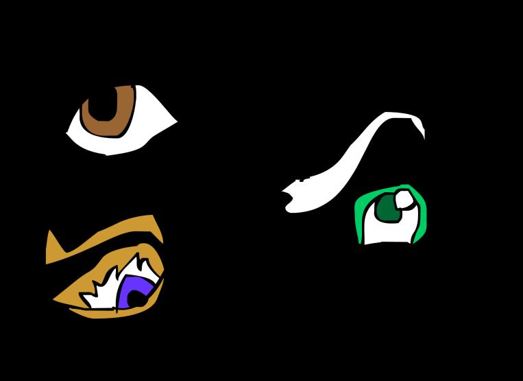 3 eye character design drawn by Cartoonist Jamaal R. James for James Creative Arts And Entertainment Company. eyeball illustrator