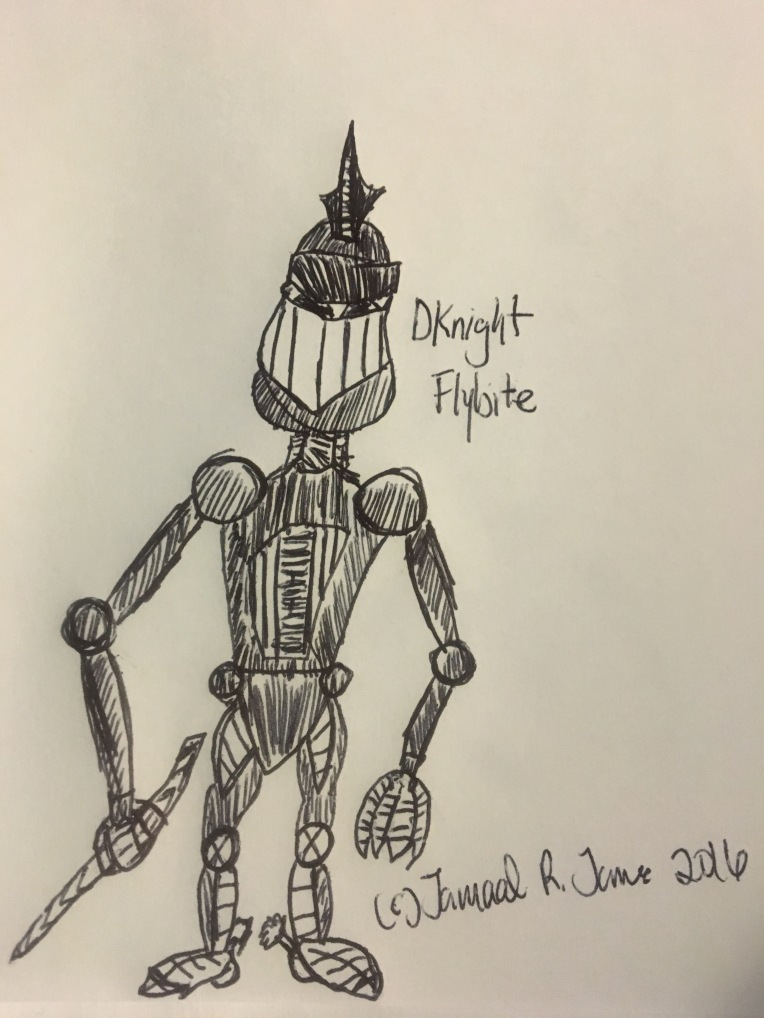Dknight Flybite Concept Art and Character Design by Cartoonist Jamaal R. James for James Creative Arts And Entertainment Company. illustration.