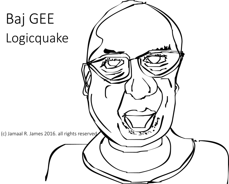 BajGEE Loqicquake a rogue logic professor from the film Agrimnon by Visionary Film Director Jamaal R. James for James Creative Arts And Entertainment Company.