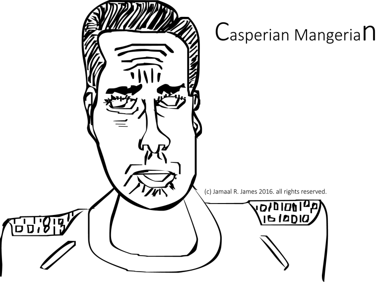Casperian Mangerian a trader who sold secrets to the architecture of Agrimnon. Agrimnon Science fiction film by Visionary Film Director Jamaal R. James for James Creative Arts And Entertainment Company. illustrator, science fiction art.