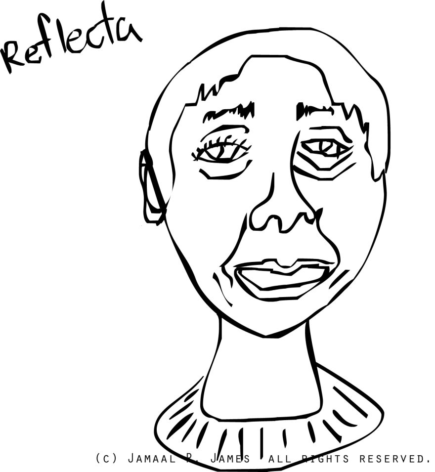 Reflecta science fiction character created by Visionary Film Director Jamaal R. James for James creative Arts and Entertainment Company. cinema