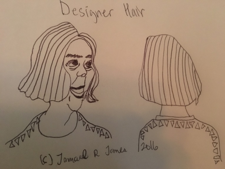 Designer Hair Care by Cartoonist/Illustrator Jamaal R. James for James Creative Arts And Entertainment Company.