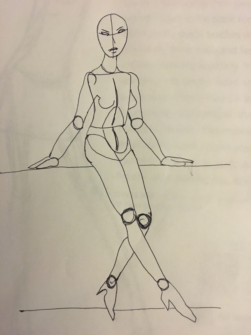 Nude Pose Figure by illustrator Jamaal R. James for James Creative Arts And Entertainment Company. Reference Chris Hart figure it out.