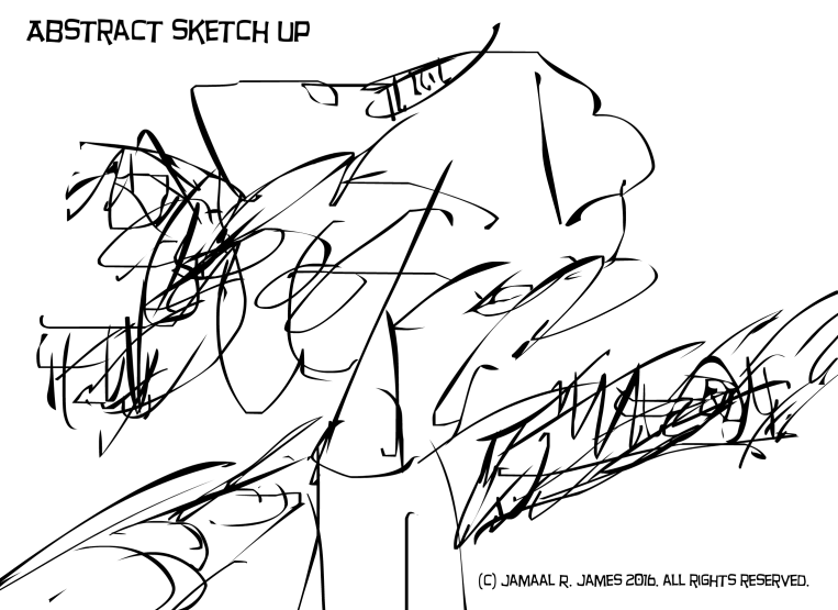 Abstract sketch up by Cartoonist Jamaal R. James for James Creative Arts And Entertainment Company. drawing.