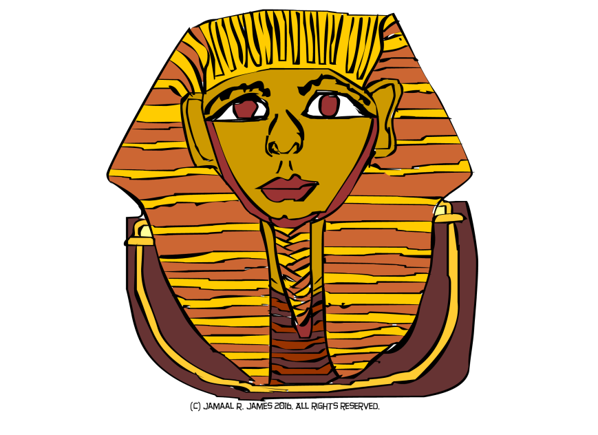 Egyptian Face Caricature by Cartoonist Jamaal R. James for James Creative Arts And Entertainment Company. illustrator