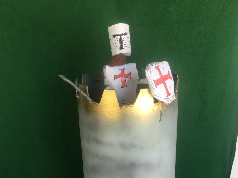 The LAst knights templar guarding his temple tower, puppet show by creative director Jamaal R. James for James Creative Arts And Entertainment Company. illustrator.