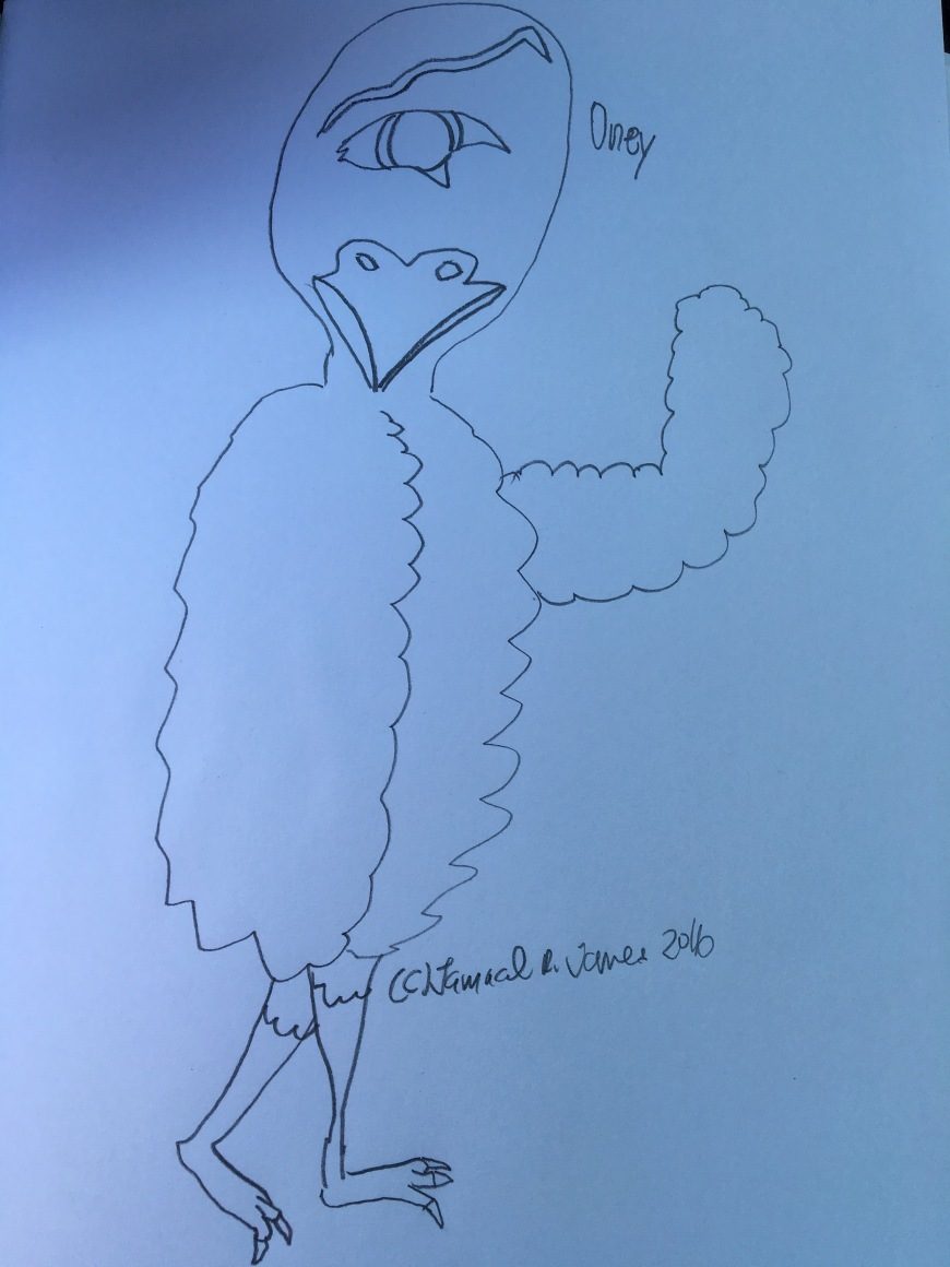 One eye bird named Oney by Cartoonist Jamaal R. James for James Creative Arts And Entertainment Company. illustrator