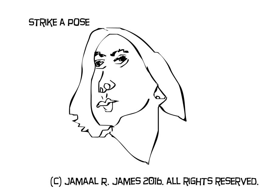 Strike a Pose Caricature by Jamaal R. James for James Creative Arts And Entertainment Company. illustrator.
