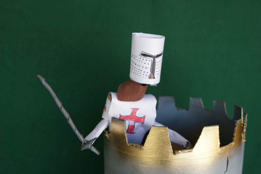 The Last Knights Templar sees Pope Clement V creeping up on his castle. Oh no. Oh no, what shall he do? Created by Creative Director Jamaal R. James for James Creative Arts And Entertainment Company. puppet theater