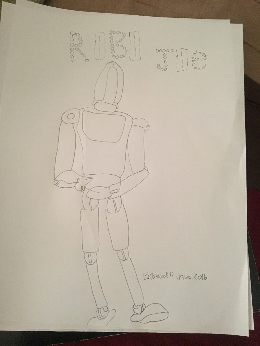RoboJoe concept art by Cartoonist/illustrator Jamaal R. James for James Creative Arts And Entertainment Company. illustrator science fiction
