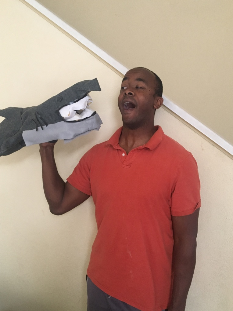 Clark The Shark Puppet created by Jamaal R. James for James Creative Arts And Entertainment Company. puppet theater