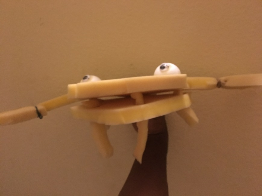 Crabalina The Crab Puppet by Puppeteer Jamaal R. James for James Creative Arts And Entertainment Company. jcaaec