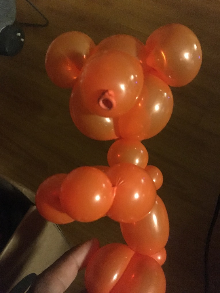 Balloon Bear by Creative Director Jamaal R. James for James Creative Arts And entertainment company. balloon art