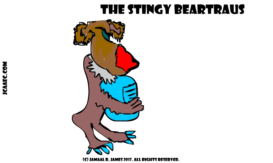 The Stingy BearTrags a children's book for James Creative Arts And Entertainment Company. drawing jcaaec