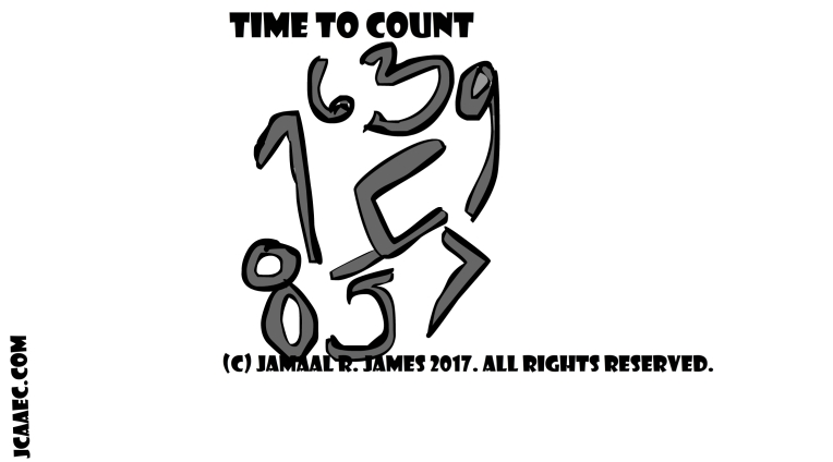 time to count concept art created by Cartoonist Jamaal R. James for James Creative arts And Entertainment Company. jcaaec