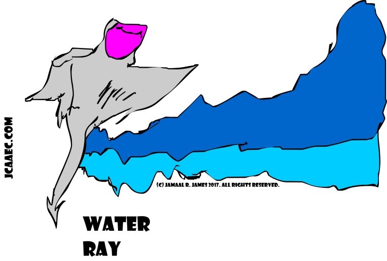 Water Ray Concept Development by Cartoonist Jamaal R. james for James Creative Arts And Entertainment Company.  jcaaec
