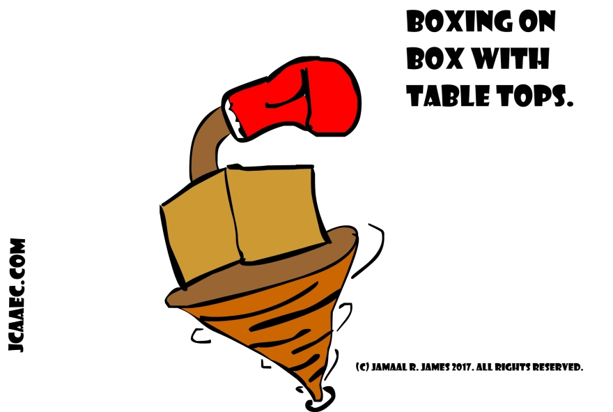 Boxing Box with Table Tops Concept Art