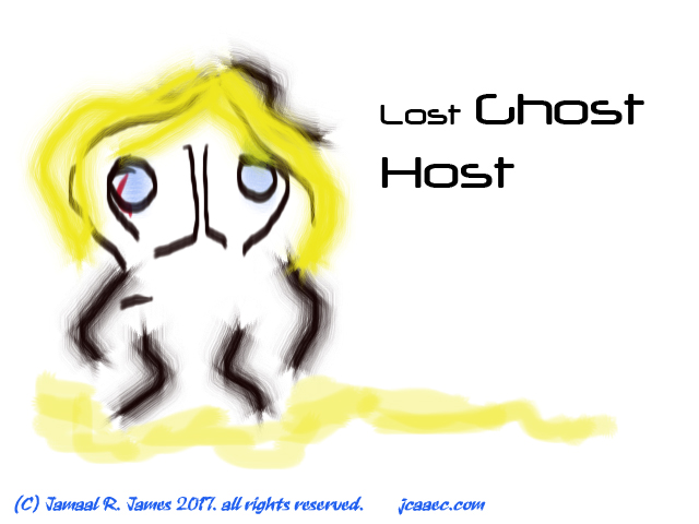 Lost Ghost Host concept art by Creative Director Jamaal R. James for James Creative arts And Entertainment Company. jcaaec