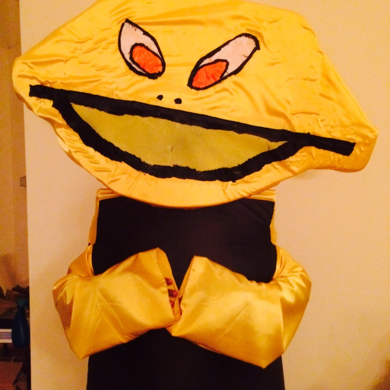 Lemron The Trickster Conartist Conman costume created by Cartoonist Jamaal R. James for James Creative Arts And Entertainment Company.