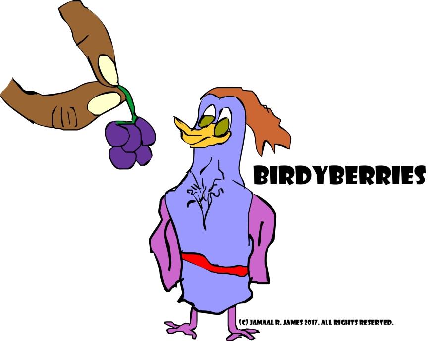 Cartoonist Jamaal R. James for Birdy Berries.