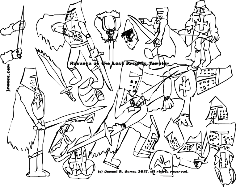 JCAAEC collection of drawings by Cartoonist Jamaal R. James