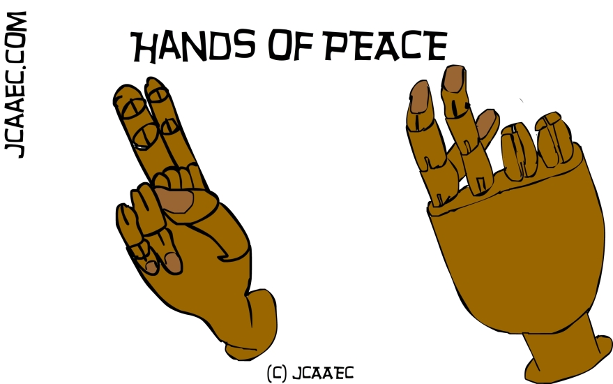 Hands of peace for James Creative arts And Entertainment Company better known as jcaaec.com
