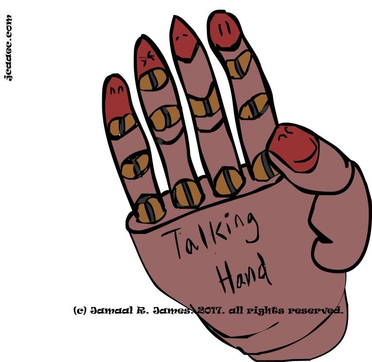 jcaaec-james creative arts and entertainment company-talking hand