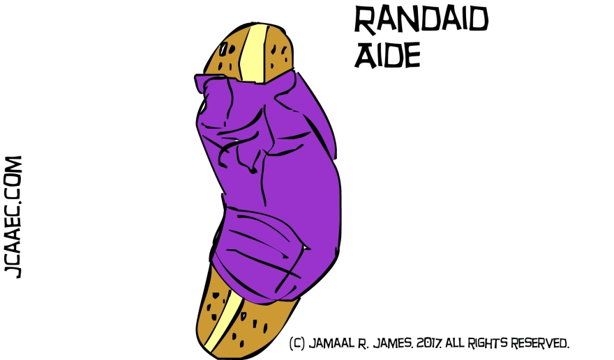Randaid Aide by illustrator Jamaal R. James for James Creative arts And entertainment Company.