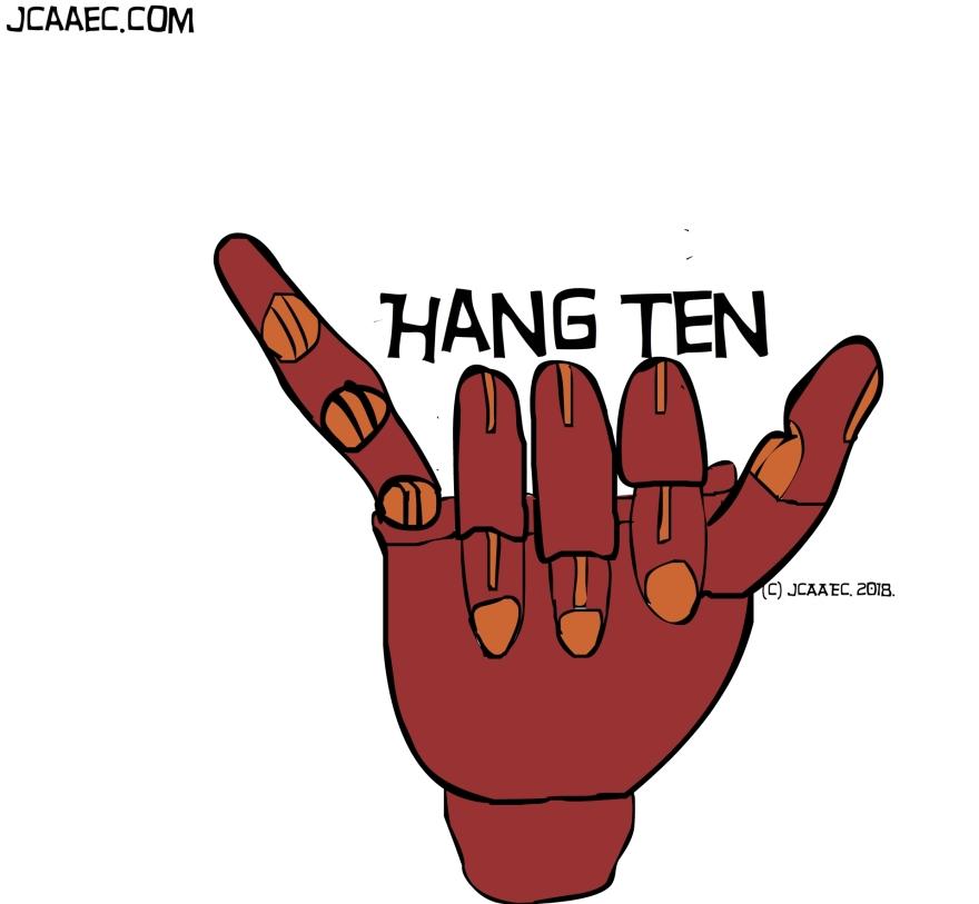 Hangten-surfing-dude-jcaaec-james creative arts and entertainment company.