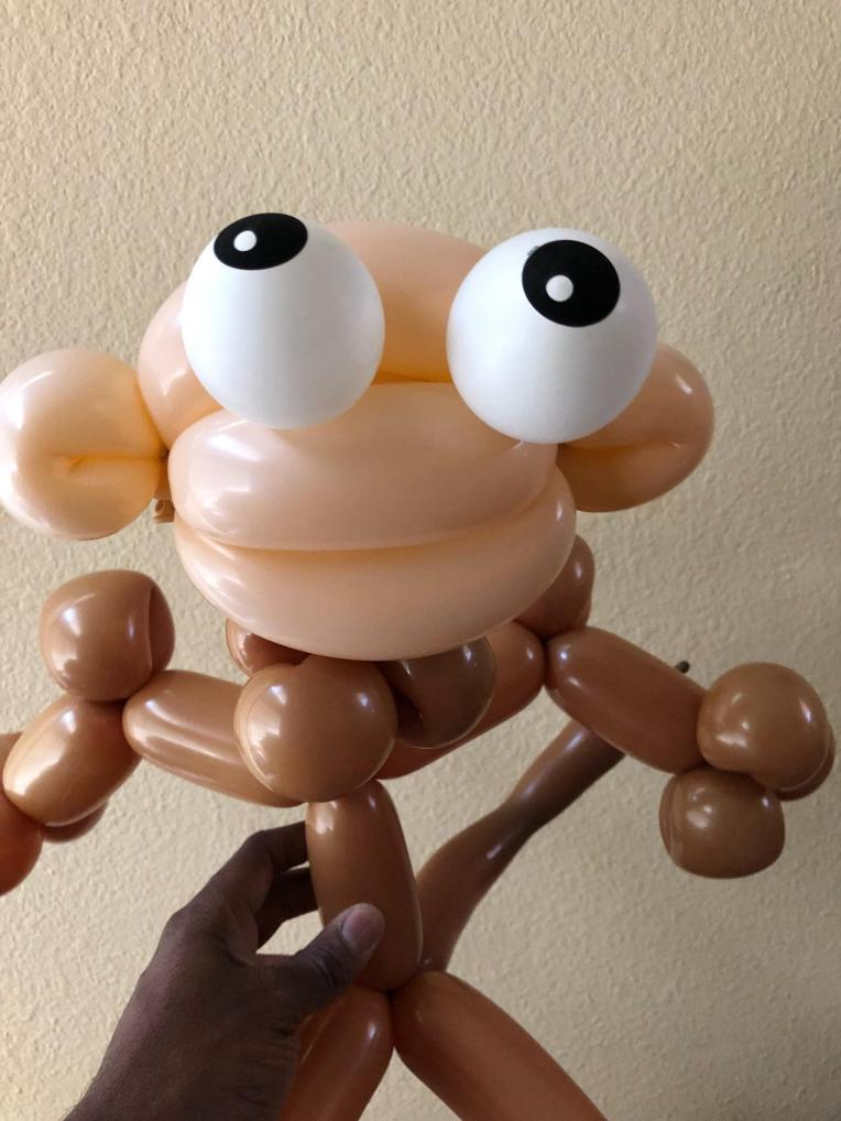 Balloon Monkey-jcaaec-james creative arts and entertainment company.